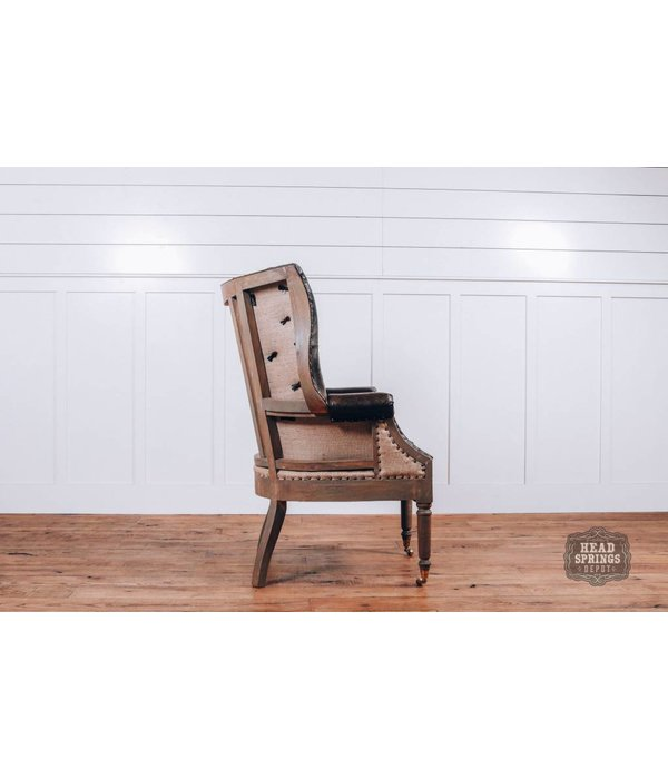 Fox & Roe Olivia Deconstructed Leather Chair with Wheel (pavilion Leather)