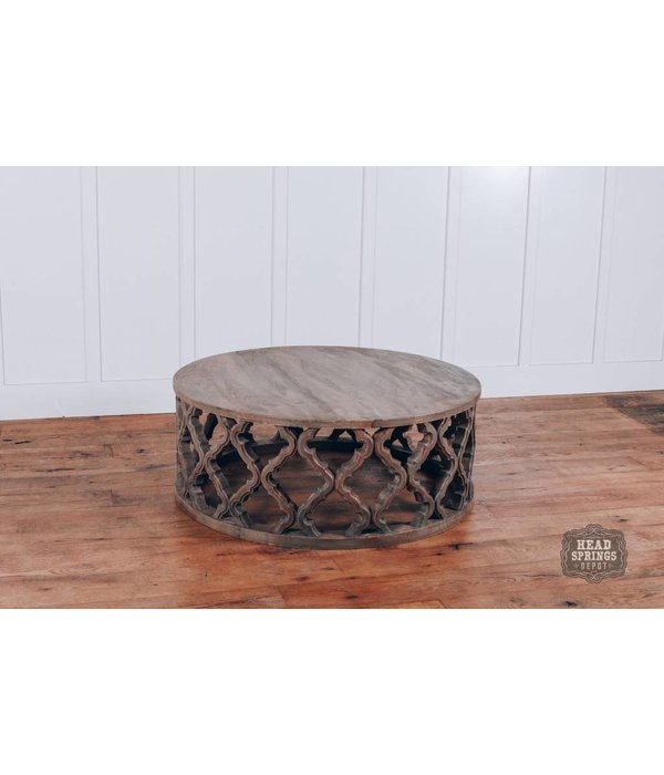 Pink City Industries Clover Round Coffee Table