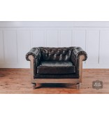 Fox & Roe Anna DeConstructed Chesterfield Arm Chair with Leather (Pavilion)