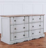 Pink City Industries Ava French Provincial 6 Drawer Dresser