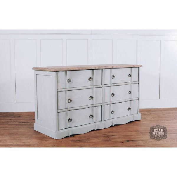 Ava French Provincial 6 Drawer Dresser