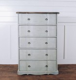 Pink City Industries Ava French Provincial 6 Drawer Highboy Dresser
