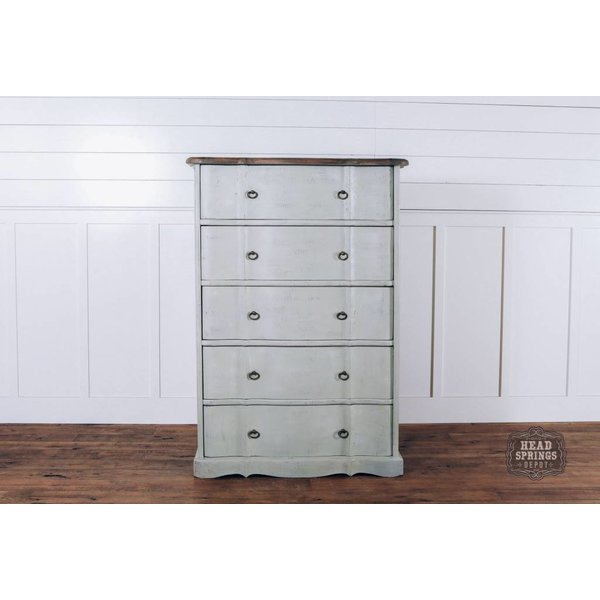 Ava French Provincial 6 Drawer Highboy Dresser