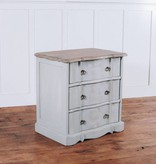 Pink City Industries Ava French Provincial 3 Drawer Night Stand FP3DNS