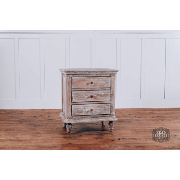 "Maison 24"" Night Stand Mango Burnt White"
