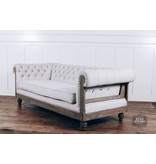 Pink City Industries Anna Deconstructed Chesterfield Sofa with Fabric (Milano 104)