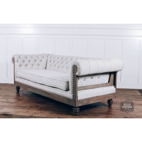 Anna Deconstructed Chesterfield Sofa with Fabric (Milano 104)
