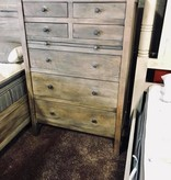 Fox & Roe Farm House 7 Drawer High Boy Dresser Mango Salvage Grey Finish