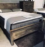 Pink City Industries Farm House Bed King Mango Salvage Grey Finish