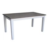 Fox & Roe Pranjo Table 6' Theo Top Wire Brush White Base Dining Table