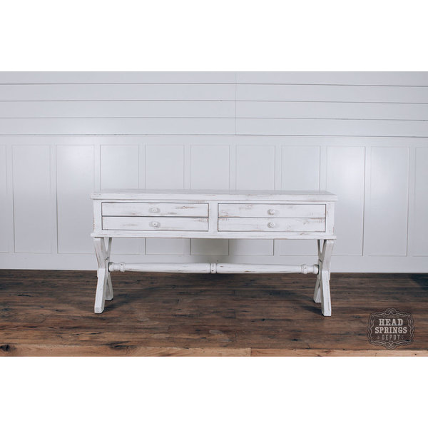 Farmhouse X Base Console Table