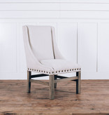 Fox & Roe Rachel Dining Chair Milano 104 Off White LFG Leg Finish