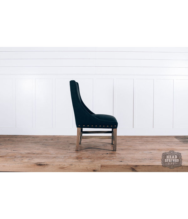 Fox & Roe Rachel Dining Chair Auro 108 Dark Gray LFG Leg Finish