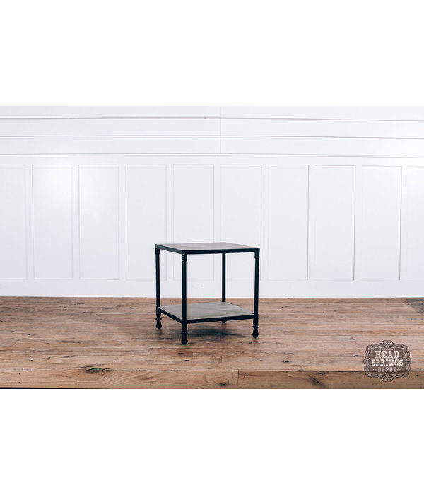 Fox & Roe Rolling End Table Salvage / Black