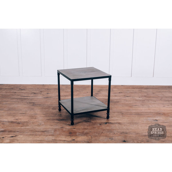 Rolling End Table Salvage / Black