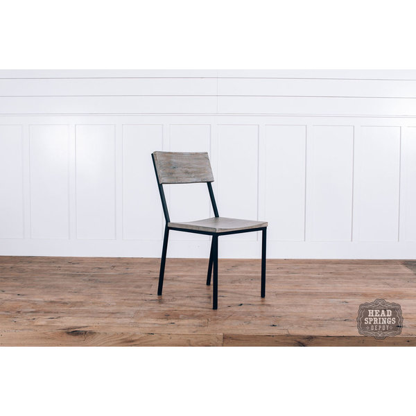 Industrial Dining Chair Strip Pine / Black