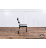 Pink City Industries Industrial Dining Chair Strip Pine / Black