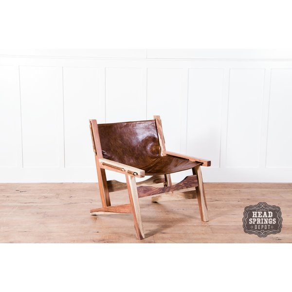 Sling Chair Sheesham Leather Natural Fountain