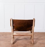 Fox & Roe Sling Chair Sheesham Leather Natural Fountain