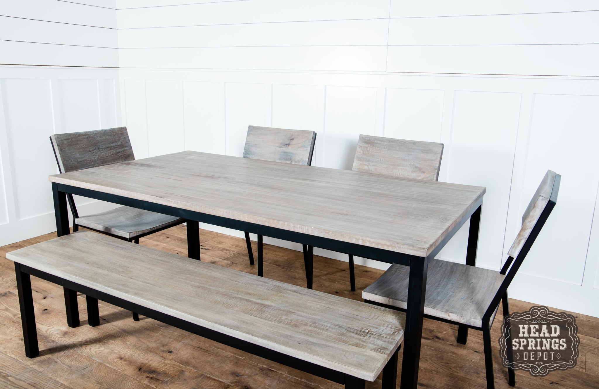 Fine Industrial Dining Table Strip Pine Black 68L X 36W X 30 Download Free Architecture Designs Viewormadebymaigaardcom