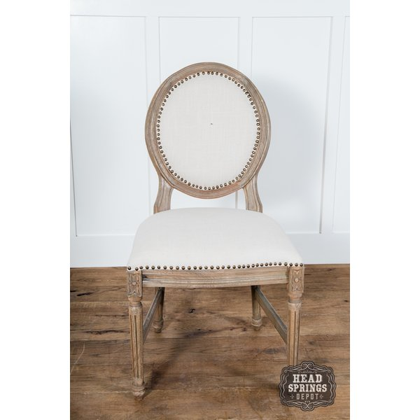 Oval Dining Chair Auro 108 Burnt White