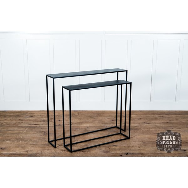 Narrow S/2 Console Tables Black
