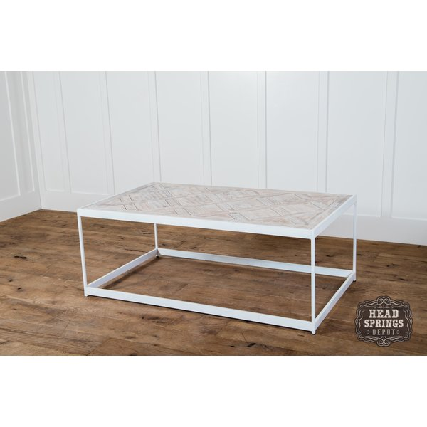 PQ Top Coffee Table White