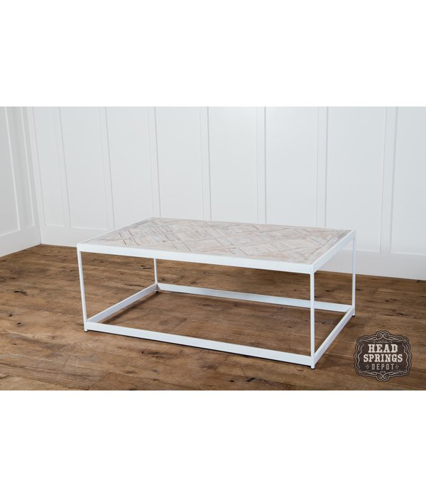 Fox & Roe PQ Top Coffee Table White