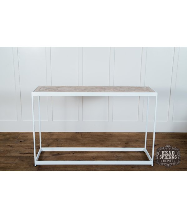 Fox & Roe PQ Top Console Table White