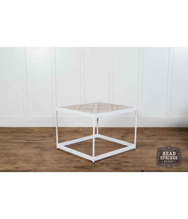 Fox & Roe PQ Top Side Table White