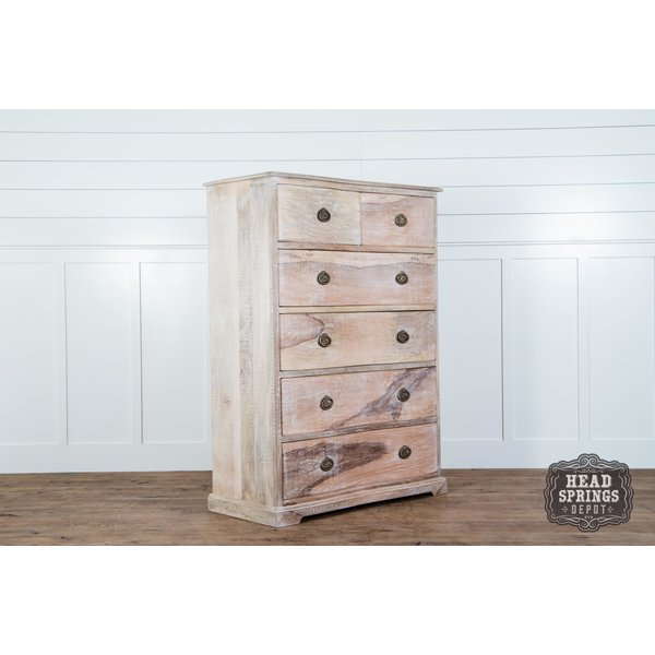 Martha Tallboy Dresser Limewash Finish