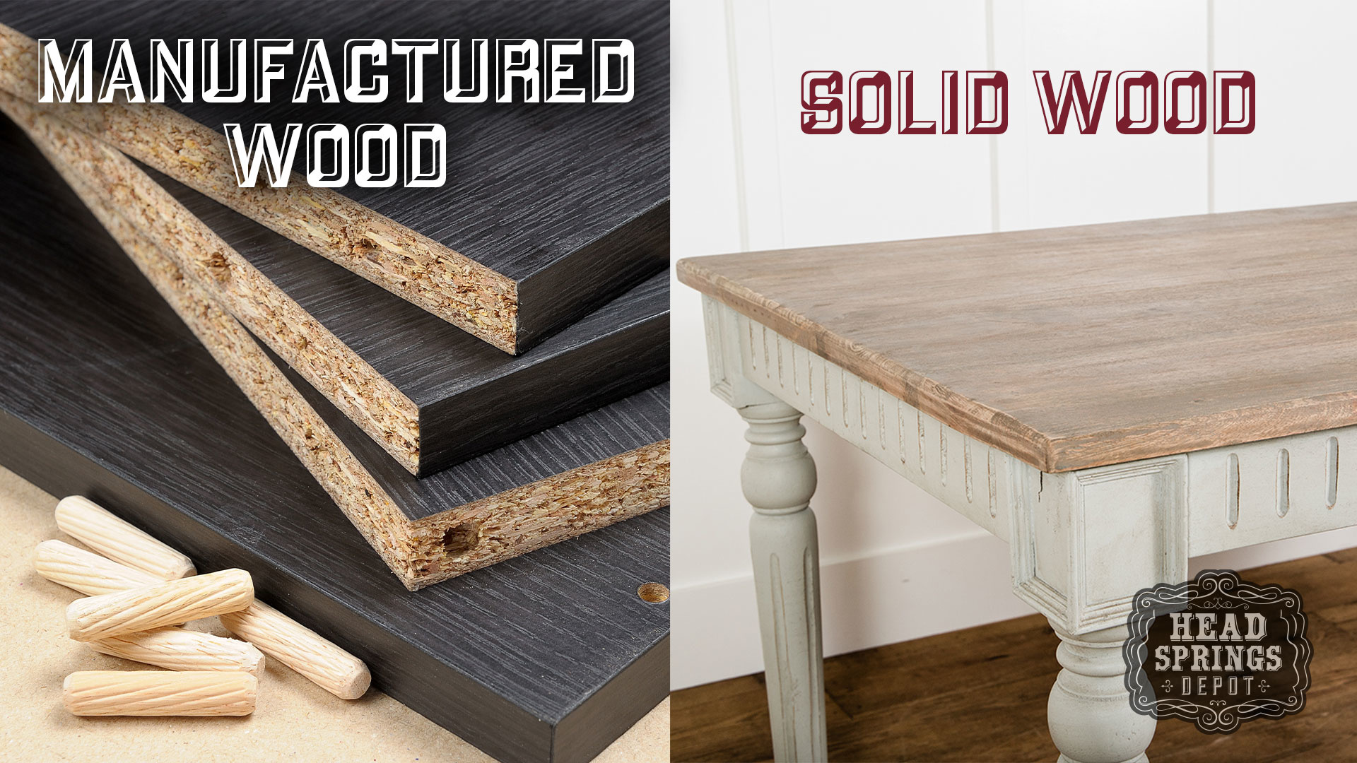 Real Wood vs. Manmade Wood