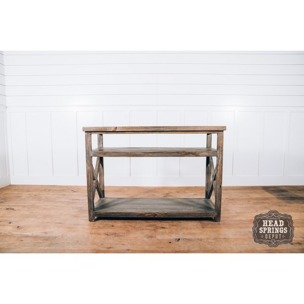 Farmhouse TV Stand No Baskets