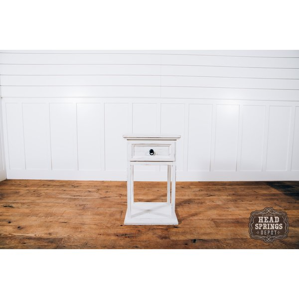 Farmhouse Emma Tall Night Stand Nero White