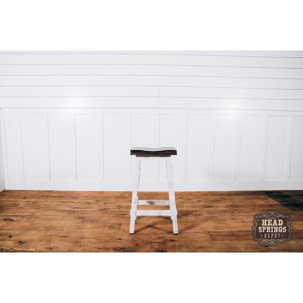 "Farmhouse Curved Seat Bar Stool 30"" Nash"