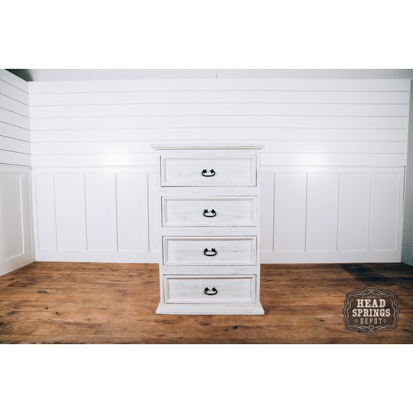 Farmhouse Emma 4 Drawer Chest Nero White