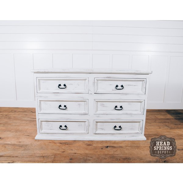 Farmhouse Emma 6 Drawer Dresser Nero White