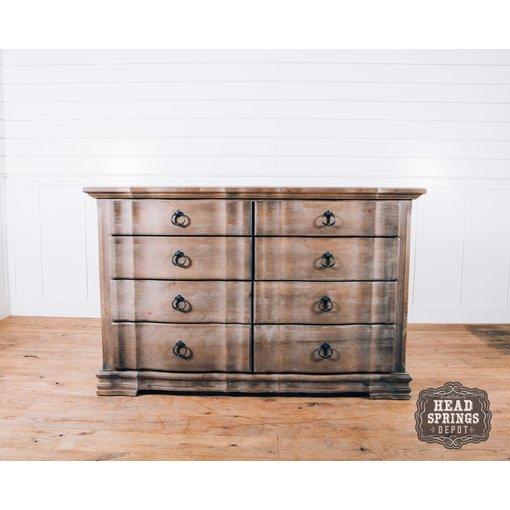Vaughn-Bassett Rustic Hills Saddle Grey 8 Drawer Dresser 682-004