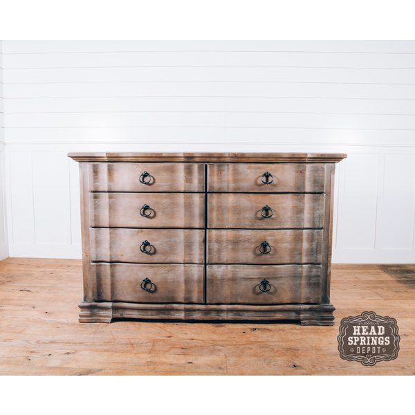 Rustic Hills Saddle Grey 8 Drawer Dresser 682-004