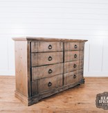 Vaughn-Bassett Rustic Hills Saddle Grey 8 Drawer Dresser 682-004