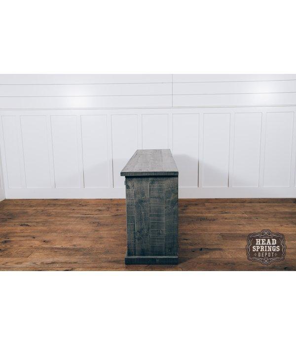 Farmhouse Luigi Console with Sliding Doors Aspen Gray (A) LN-CON589-ASPGY