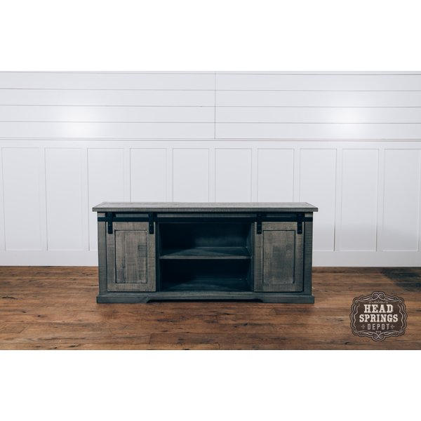 Farmhouse Luigi Console with Sliding Doors Aspen Gray (A) LN-CON589-ASPGY