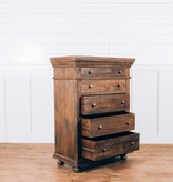Fox & Roe Saint James 5 Drawer Highboy Chest Theo Finish