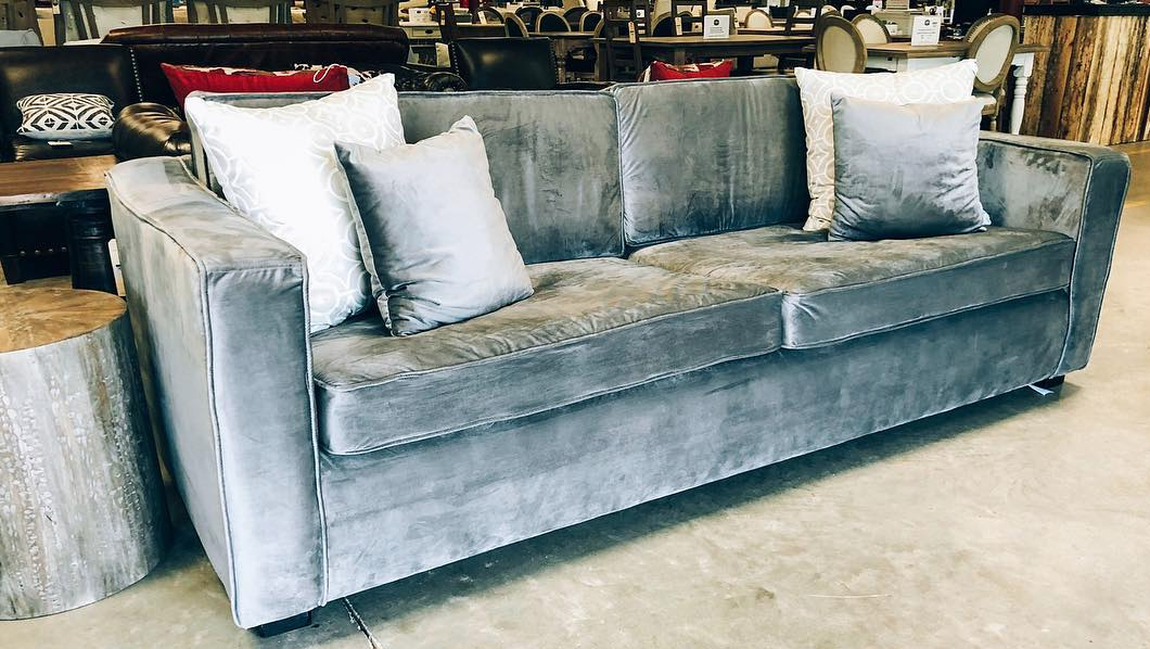 Head Springs Depot Velvet Couch