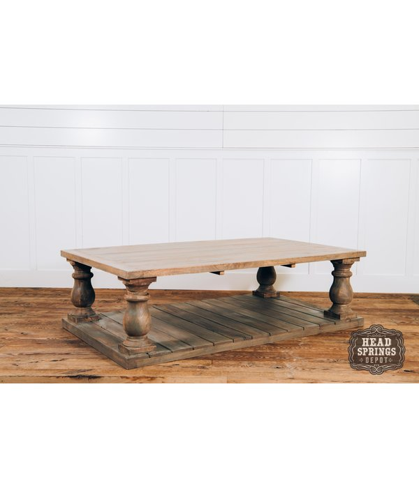 "Fox & Roe Vintage Coffee Table Theo 68""L"