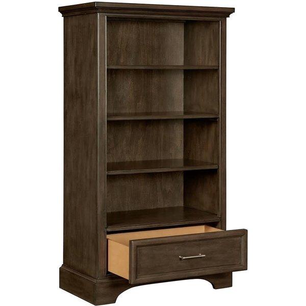 Stone & Leigh Furniture Chelsea Square-Bookcase Raisin Finish