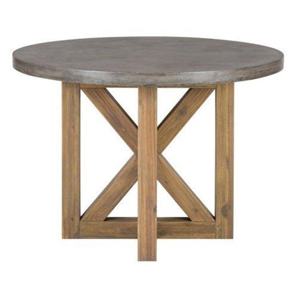 "Boulder Ridge Round Concrete Dining Table 43"""