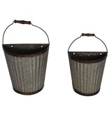 Crestview Half Pint Wall Hanging Pails Set of 2