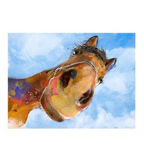 "Crestview ""WHOA"" Horse Print CVTOP2158"