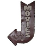 Crestview Movies Metal Sign